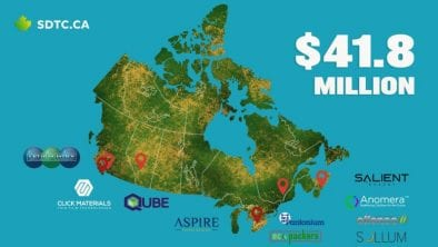 SDTC 2020 Funding Map of Canada